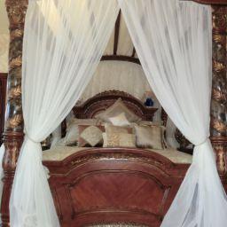 Декор спальни п. Мехзавод. Салон штор Garden rose. Спальня. Пошив и фото штор в интерьере 2016