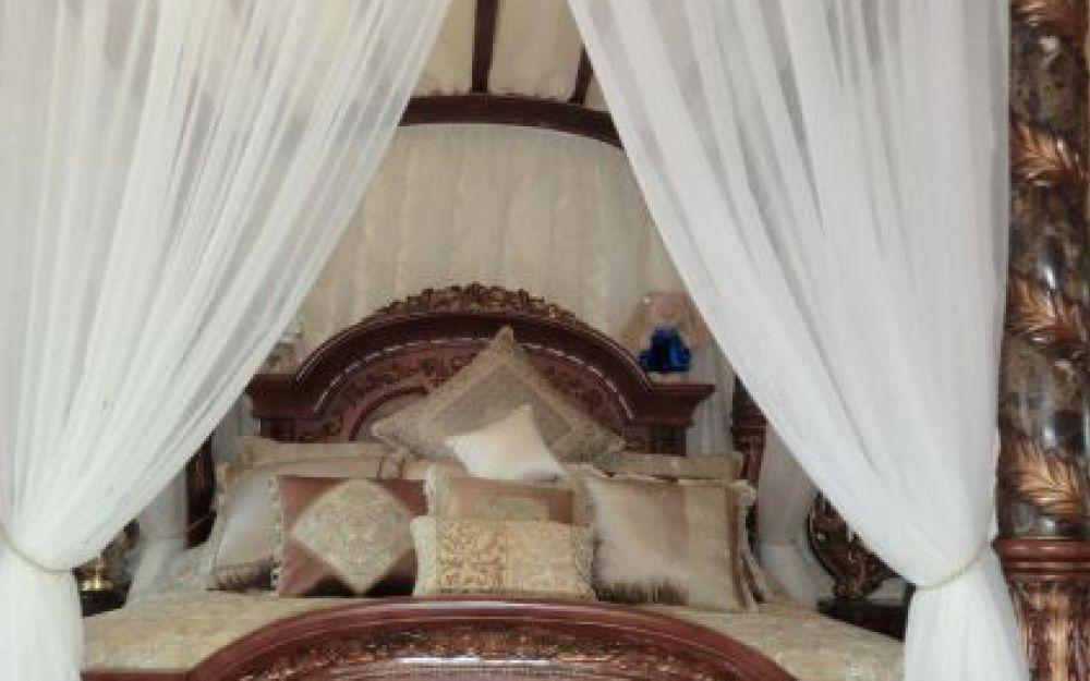 Балдахин, подушки. Декор спальни п. Мехзавод. Шторуз.ру