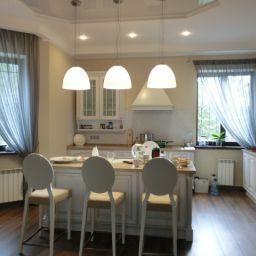 Кухня в Царевщине. Салон штор Garden rose. Кухня. Пошив и фото штор в интерьере 2016