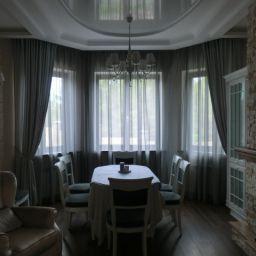 Гостиная в Царевщине. Салон штор Garden rose. Гостиная. Пошив и фото штор в интерьере 2016