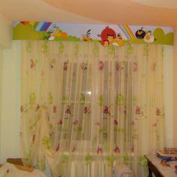 """Детская """"Angry Birds"""". Салон штор Дизайн-студия Сарафан. Детская. Пошив и фото штор в интерьере 2016"""