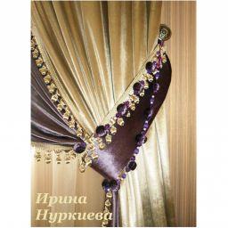 Бархатные портьеры на подхвате.  Нуркиева Ирина. Пошив и фото штор в интерьере 2016