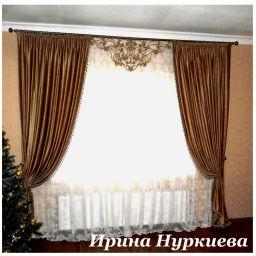 Бронзовый шинил для гостиной.  Нуркиева Ирина. Гостиная. Пошив и фото штор в интерьере 2016