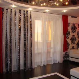 Гостиная. Частный дизайнер по шторам Мария Кружалова. Пошив и фото штор в интерьере 2016