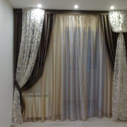 Спальня на Советской. Салон штор Дизайн-студия Сарафан. Пошив и фото штор в интерьере 2016