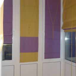 Лоджия на советской. Салон штор Дизайн-студия Сарафан. Пошив и фото штор в интерьере 2016