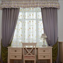 Детская комната. Дизайнер в салоне штор Куц Елена. Пошив и фото штор в интерьере 2016
