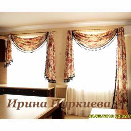 Шторы для кухни. Вариант оформления разных окон. Частный дизайнер по шторам Нуркиева Ирина. Пошив и фото штор в интерьере 2016