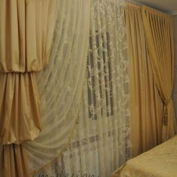 Спальня в Жулебино. Частный дизайнер по шторам Милякова Ирина. Спальня. Пошив и фото штор в интерьере 2016
