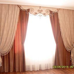 Шторы для спальни SWAROVSKI. Частный дизайнер по шторам Нуркиева Ирина. Спальня. Пошив и фото штор в интерьере 2016