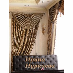 Драпировки в классическом стиле. Частный дизайнер по шторам Нуркиева Ирина. Пошив и фото штор в интерьере 2016
