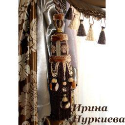 Подхваты для штор в классическом стиле. Частный дизайнер по шторам Нуркиева Ирина. Пошив и фото штор в интерьере 2016