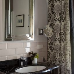 Ванная комната. Салон штор Корфил декор. Пошив и фото штор в интерьере 2016