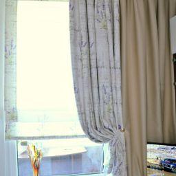 Спальня. Дизайнер в салоне штор Анастасия Пустовгарова. Гостиная. Пошив и фото штор в интерьере 2016