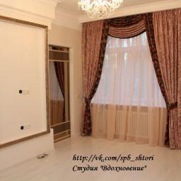 """Спальня. Квартира в г. Пушкин, 2013г.. Салон штор Студия текстильного дизайна """"Вдохновение"""". Спальня. Пошив и фото штор в интерьере 2016"""