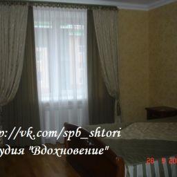 """Спальня. Квартира в г. Пушкин, 2009г.. Салон штор Студия текстильного дизайна """"Вдохновение"""". Спальня. Пошив и фото штор в интерьере 2016"""