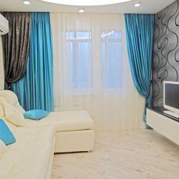 Гостиная в Митино. Дизайнер в салоне штор Sofıa. Гостиная. Пошив и фото штор в интерьере 2016