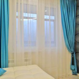 Гостиная в Митино. На шторной ленте и со складками в ручную в гостиную. Современный стиль. Шторуз.ру
