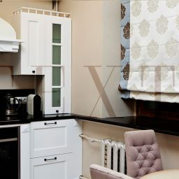 Кухня в квартире на Плотниковом. Салон штор TEXTI. Кухня. Пошив и фото штор в интерьере 2016