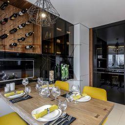 Кухня в квартире на Дубнинской. Салон штор TEXTI. Кухня. Пошив и фото штор в интерьере 2016
