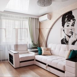 Гостиная на Братеевской. Салон штор TEXTI. Гостиная. Пошив и фото штор в интерьере 2016