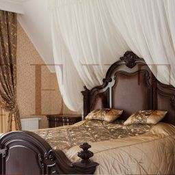 Спальня в КП Бавария. Салон штор TEXTI. Спальня. Пошив и фото штор в интерьере 2016