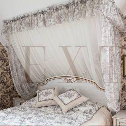 Спальня дочери в КП Бавария. На шторной ленте и со складками в ручную в спальню. Классика. Шторуз.ру