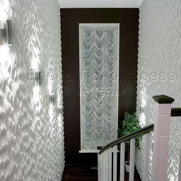 Лестницы в загородных домах. Салон штор Флер. Пошив и фото штор в интерьере 2016