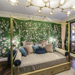 Спальня в восточном стиле. Салон штор TEXTI. Спальня. Пошив и фото штор в интерьере 2016