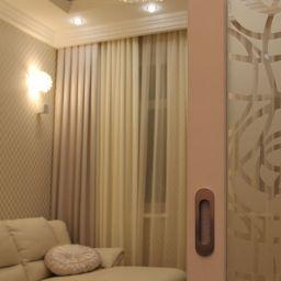 Однокомнатная квартира ул. Донская. Салон штор ABiART HOME. Спальня. Пошив и фото штор в интерьере 2016