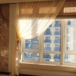 Гостиная ул. Мосфильмовская. Салон штор ABiART HOME. Гостиная. Пошив и фото штор в интерьере 2016