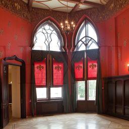 Рыцарский зал . Салон штор TEXTI. Гостиная. Пошив и фото штор в интерьере 2016