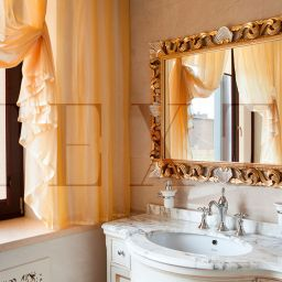 Золотая ванная. Салон штор TEXTI. Спальня. Пошив и фото штор в интерьере 2016