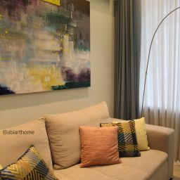 Гостинная. Большой Тишинский переулок. Салон штор ABiART HOME. Гостиная. Пошив и фото штор в интерьере 2016