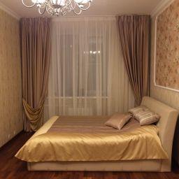Спальня в Ломоносовском районе. Дизайнер в салоне штор Дарья. Спальня. Пошив и фото штор в интерьере 2016