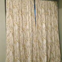 Шторы в спальню в Жк Академгородок. Частный дизайнер по шторам Левченко Лилия. Пошив и фото штор в интерьере 2016