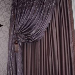 Гостиная Граф Орлов. На шторной ленте и со складками в ручную в гостиную. Шторуз.ру