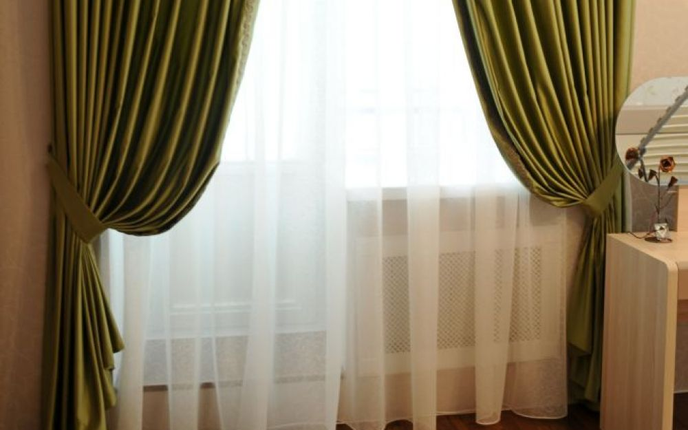 Шторы. Спальная комната в ЖК Граф Орлов. Шторуз.ру