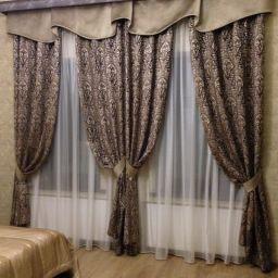 спальня в  Приморске. Дизайнер по интерьерам Виктория. Пошив и фото штор в интерьере 2016
