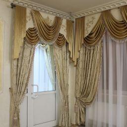 Входная зона банкетного зала. Частный дизайнер по шторам Нуркиева Ирина. Пошив и фото штор в интерьере 2016