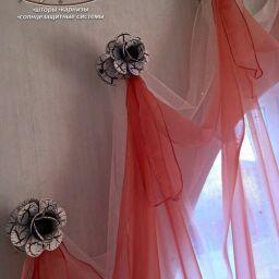 Уютный дом в Красном Яру. Салон штор Арт-студия. Спальня. Пошив и фото штор в интерьере 2016