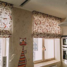 Кухня на Авангардной. Салон штор Студия ARMANDI. Кухня. Пошив и фото штор в интерьере 2016