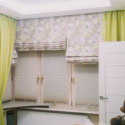 Гостиная на Авангардной. Салон штор Студия ARMANDI. Гостиная. Пошив и фото штор в интерьере 2016