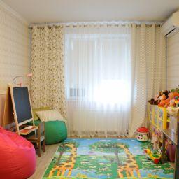детская комната на Гаккелевской. Дизайнер в салоне штор Елена. Детская. Пошив и фото штор в интерьере 2016