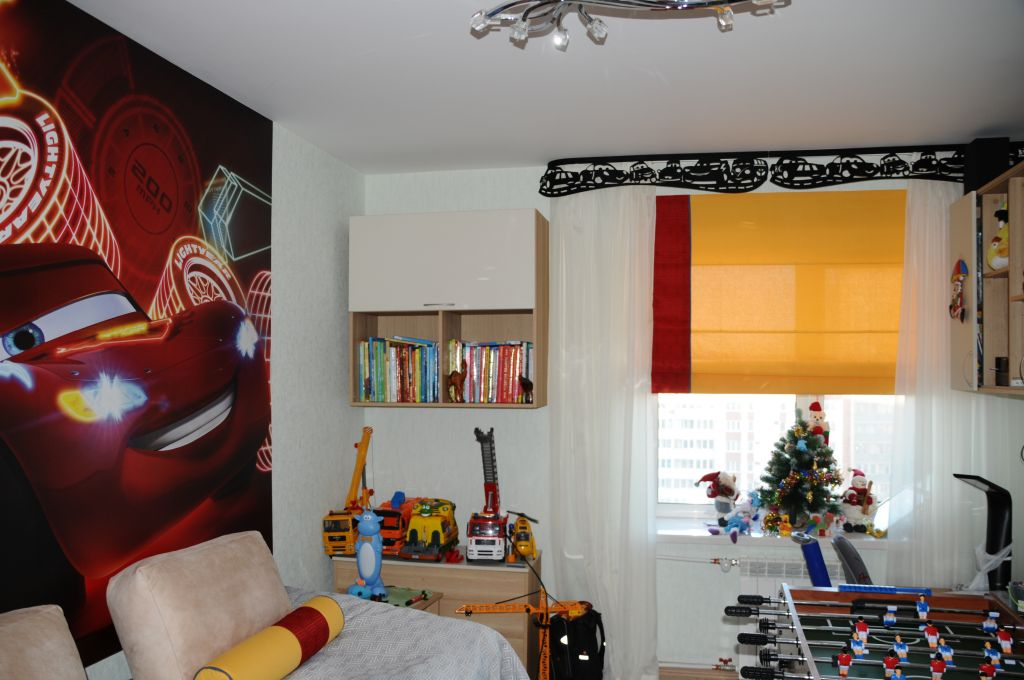 Шторы, подушки. детская комната на богатырском пр. Шторуз.ру