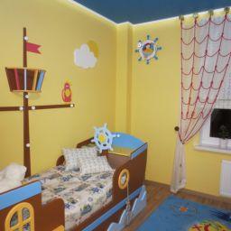 детская в морском стиле. Дизайнер в салоне штор Елена. Детская. Пошив и фото штор в интерьере 2016