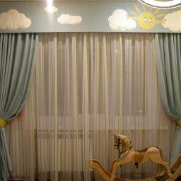 Детская солнышко. Дизайнер в салоне штор Шафранова Надежда. Детская. Пошив и фото штор в интерьере 2016