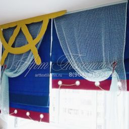 Детские. Салон штор Арт Текстиль. Пошив и фото штор в интерьере 2016