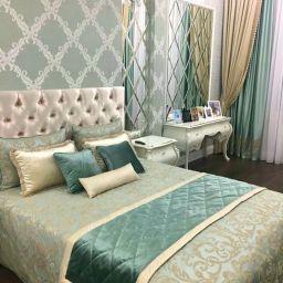 Спальня в Петергофе. Частный дизайнер по шторам Светлана. Пошив и фото штор в интерьере 2016