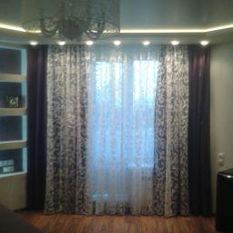 Спальня..  Семенов Александр. Пошив и фото штор в интерьере 2016